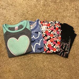 Set of 4 long sleeve shirts. Size S/M
